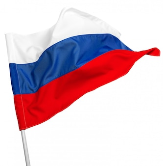 Rusland vlag zwaaien
