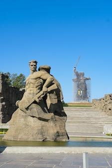 Rusland, volgograd. historisch en herdenkingscomplex het monument, stand to death genoemd