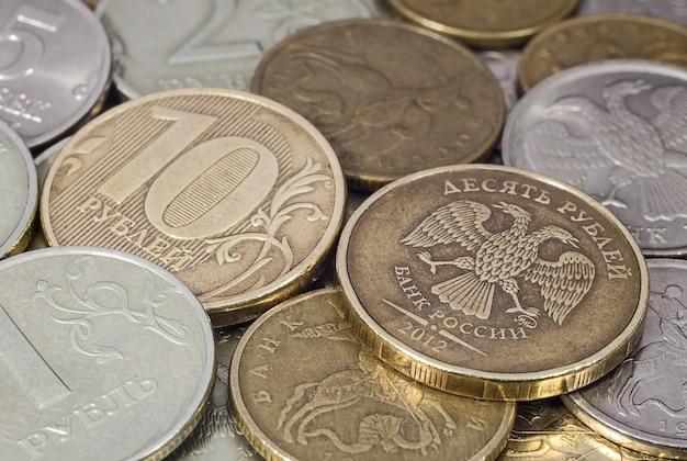 Russische munten close-up