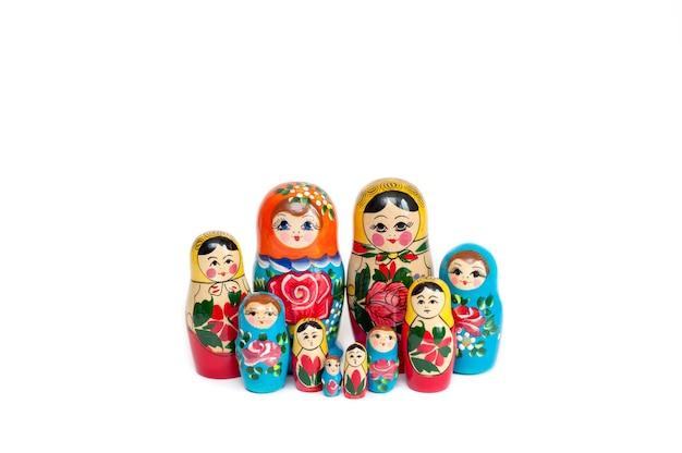 Russische poppen, matryoshka houten poppen