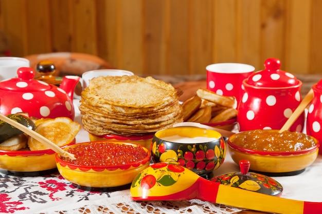 Russische shrovetide tafel