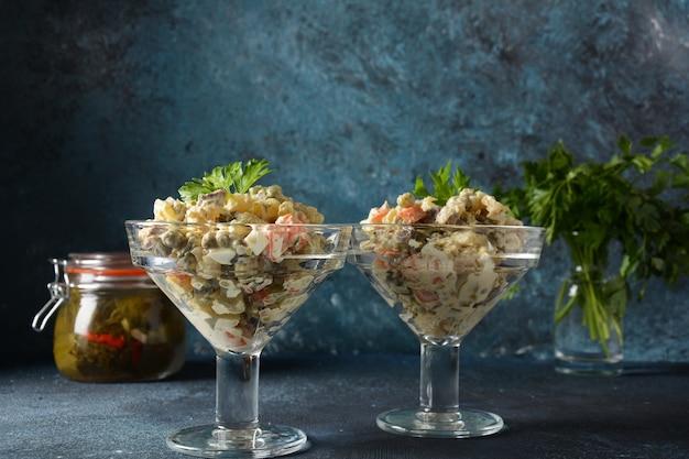 Russische traditionele salade