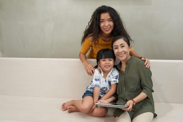 Rustende familie