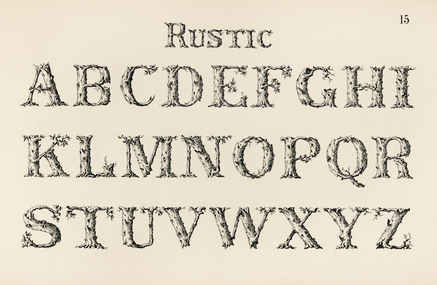 Rustieke kalligrafie lettertypen