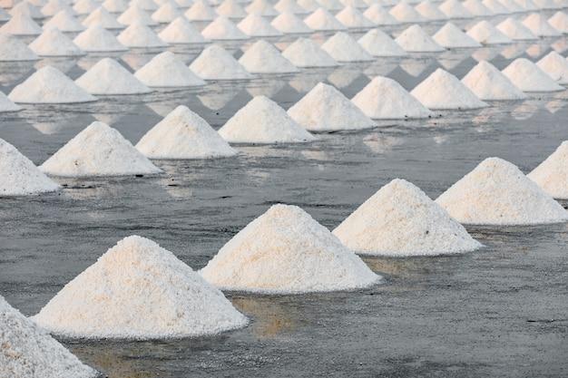 Ruw zout in samut songkhram thailand