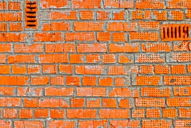 Ruwe bakstenen muurachtergrond
