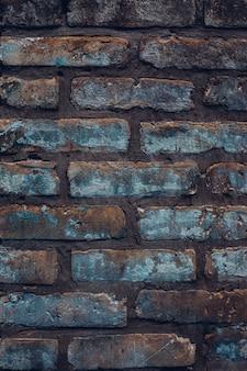 Ruwe denimachtige bakstenen muur. vintage rustieke textuur achtergrond