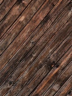 Ruwe donkere bruine houten geweven achtergrond