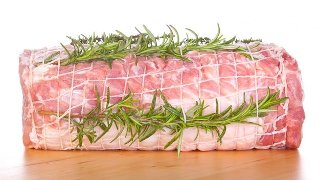 Ruwe ruggegraat van varkensvlees