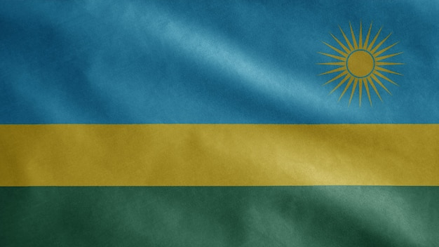Rwandese vlag wappert in de wind
