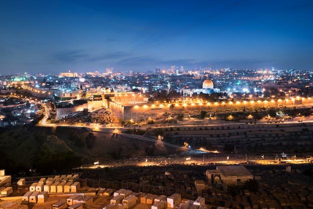 's nachts de stad van jeruzalem