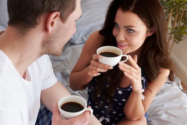 's ochtends koffie met mijn grote liefde