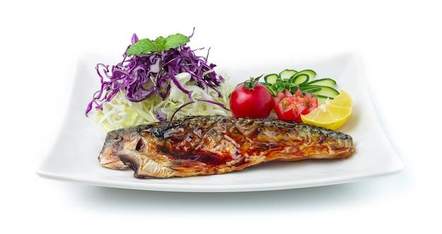 Saba fish gegrilde teriyaki-saus in japanse stijl