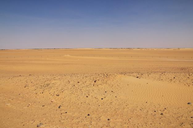 Sahara woestijn in soedan, afrika