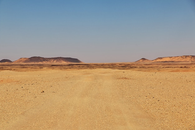 Saharawoestijn in soedan, afrika