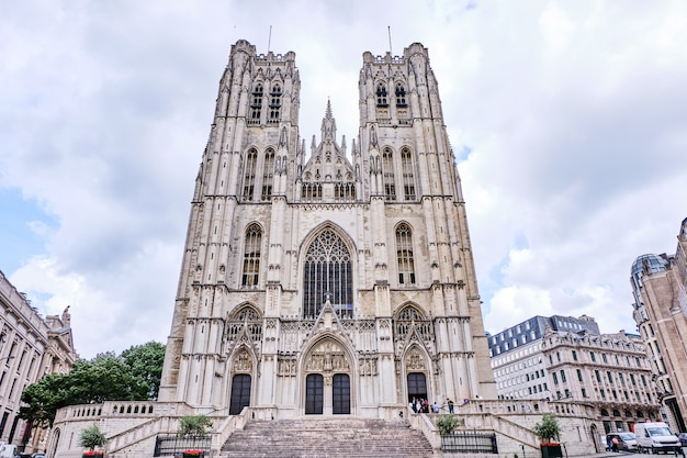 Saint michael en saint gudula cathedral in brussel, belgië