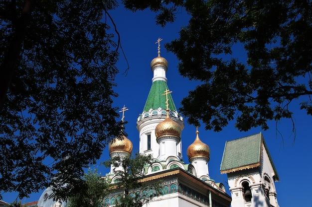 Saint nikolas russian church, tsurkva sveta nikolai in sofia, bulgarije