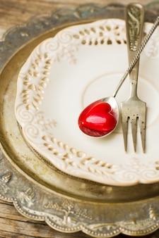 Saint valentijnsdag in vintage stijl