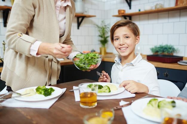 Salade eten