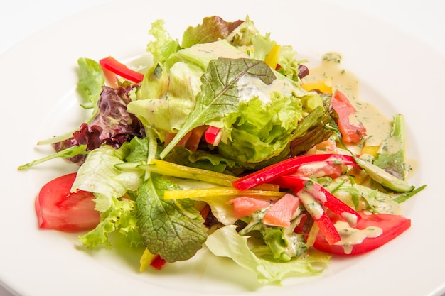 Salade met groene groenten