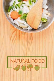 Salade met rechthoekige kaderrand van veganistische menukaart