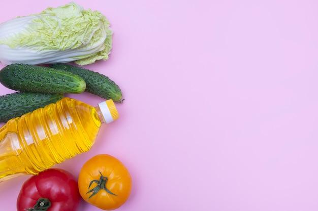 Saladeingrediënten met exemplaarruimte