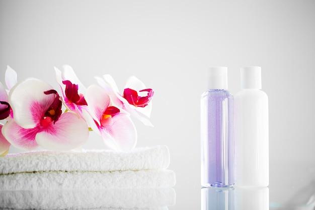 Samenstelling cosmetische producten van spa-behandeling.