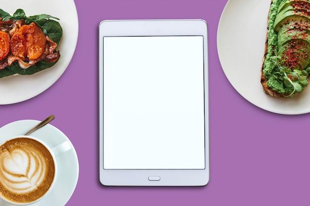 Samenstelling. lege tablet en voedsel