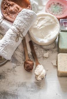 Samenstelling van de spa met zeep