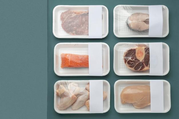 Samenstelling van gezonde diepvriesproducten
