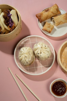 Samenstelling van heerlijk aziatisch eten