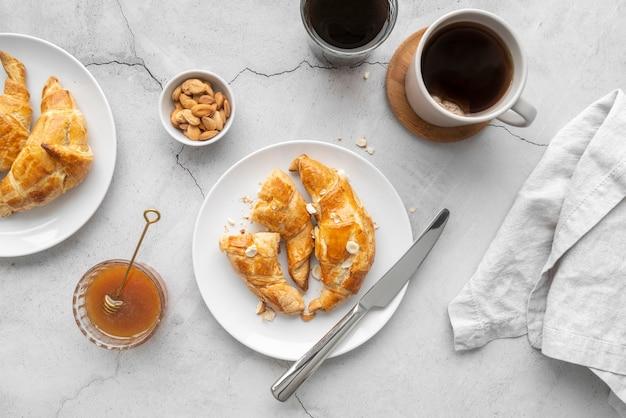 Samenstelling van heerlijke ontbijtmaaltijd