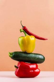 Samenstelling van heerlijke verse groenten
