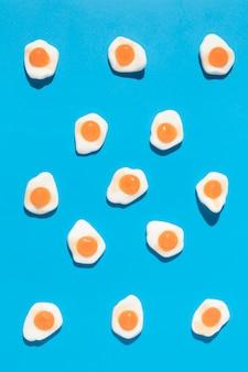 Samenstelling van heerlijke zoete eiersnoepjes