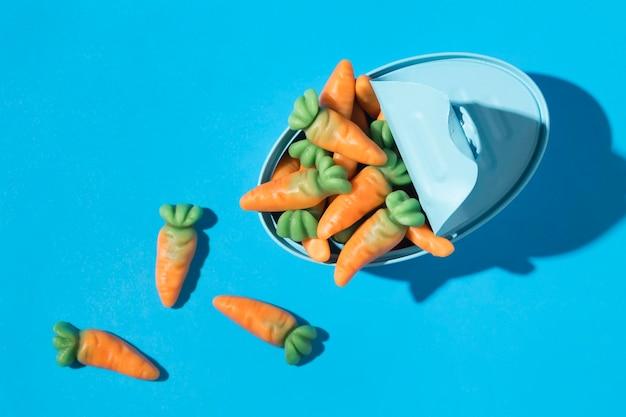 Samenstelling van heerlijke zoete wortelsuikergoed
