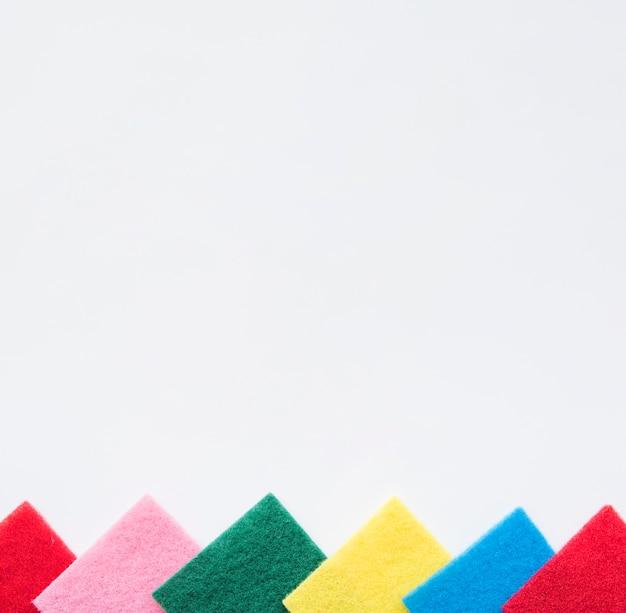 Samenstelling van het schoonmaken van voorwerpen met copyspace