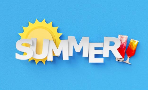 Samenstelling van papieren zomer stilleven elementen