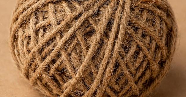 Samenstelling van platliggende touwtextuur