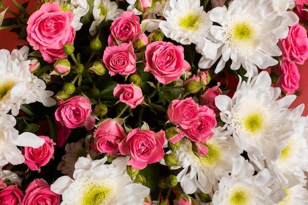 Samenstelling van prachtige bloemen behang
