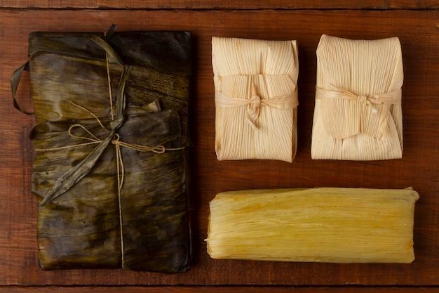 Samenstelling van smakelijke traditionele tamales