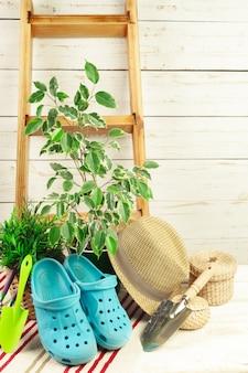 Samenstelling van tuingereedschap