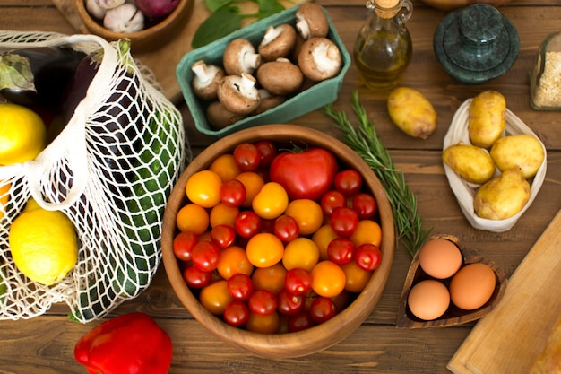 Samenstelling van verschillende heerlijke ingrediënten Gratis Foto