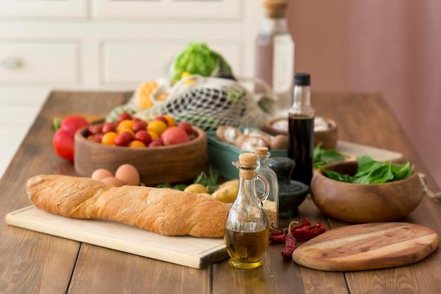 Samenstelling van verschillende heerlijke ingrediënten