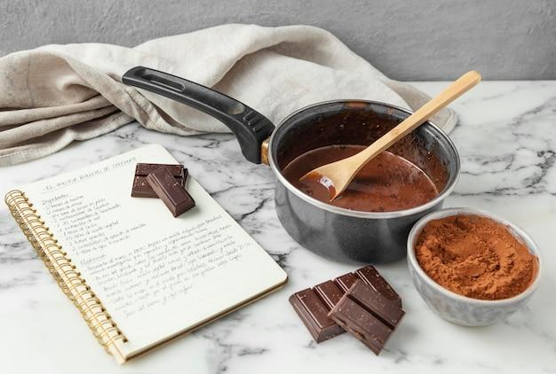 Samenstelling van verschillende ingrediënten voor een heerlijk recept