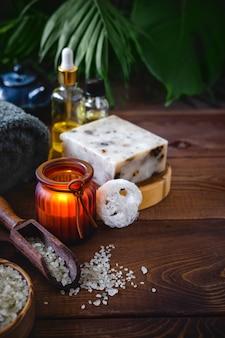 Samenstelling van verschillende objecten gebruikt voor spa-behandelingen
