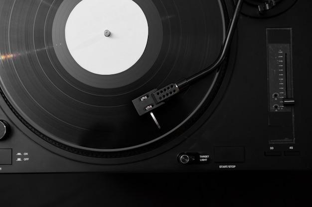 Samenstelling van vinylplaten in bovenaanzicht
