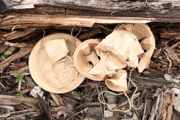 Samenstelling van vuile gedumpte voorwerpen