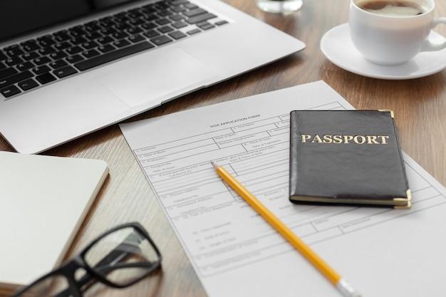 Samenstelling visumaanvraag met paspoort