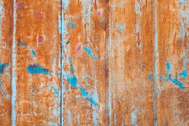 Samenvatting aangetaste kleurrijke grungeoppervlakte