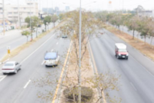 Samenvatting, beweging wazig van verkeer